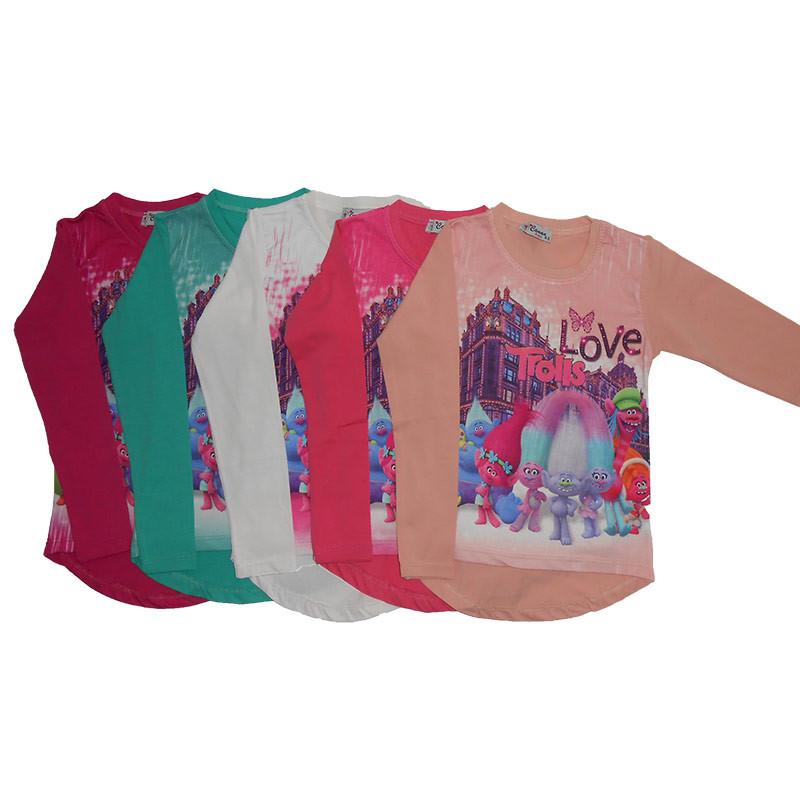 Кофта для девочки 4-8 лет 2951.1 рост 104-128 город,тролли                                           - Интернет магазин детских товаров «КУЗЯ»  в Виннице