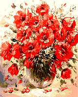 Картины по номерам 40×50 см. Маковый букет Художник Антонио Джанильятти