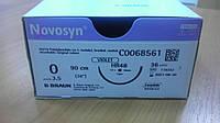 Новосин Novosyn, Полигликолиевая кислота (0), 48мм, 90см, Колющая игла, 1/2 окружности