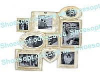 Фоторамка настенная Шебби-шик 46х44х2 см на 9 фото
