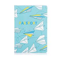 """Прикольная обложка для паспорта """"Бумажные самолетики"""""""