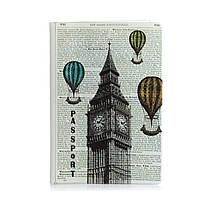 """Прикольная обложка для паспорта """"Лондон-Париж"""""""
