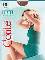 Колготы CONTE NUANCE 15 ден (natural, nero, shade, mocca, grafit) (2; 3; 4)
