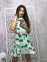 Женское красивое платье-трапеция (4 цвета)