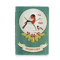 """Прикольная обложка для паспорта """"Снегирь"""""""