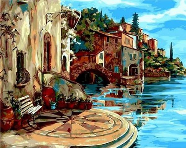 Картины по номерам 40×50 см. Летний пейзаж Художник Karen Stene