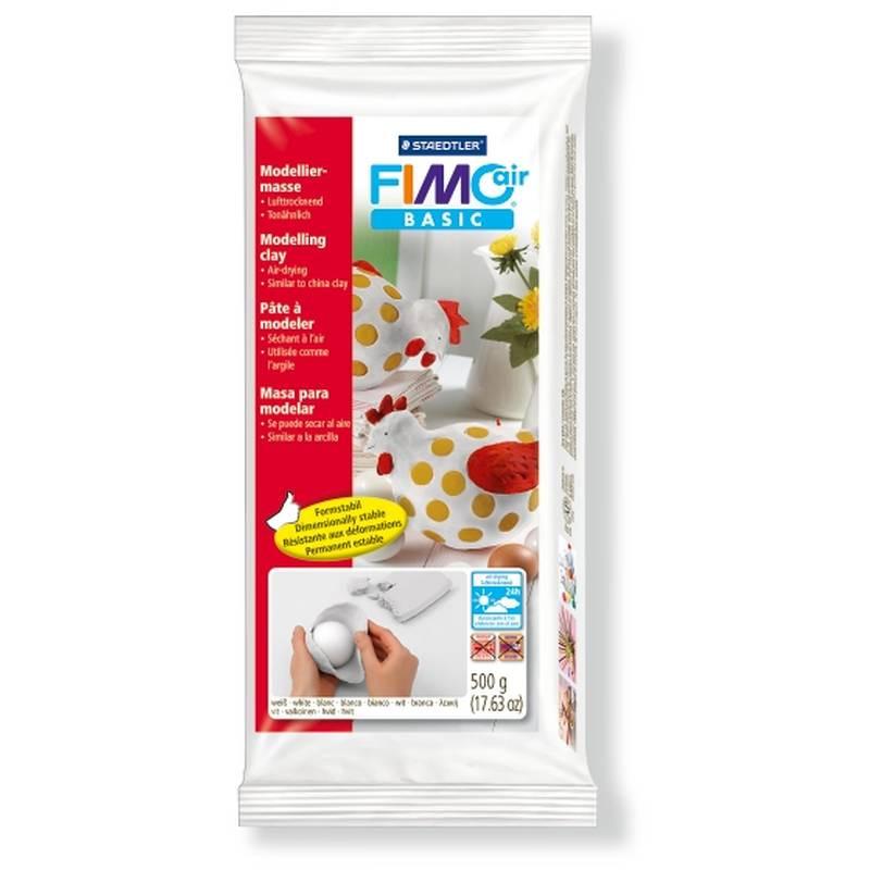 Массы для лепки (самозатвердевающая масса) Фимо FIMO Air, 500г,  белый