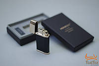 Турбо зажигалка газовая ( черн., золото) в подарочной коробке