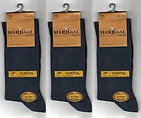 Носки мужские демисезонные Marjinal шёлковый хлопок с эластаном, антибактериальные, тёмно-серые,1803