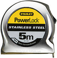 """Рулетка L-5м., """"Powerlock®"""", полотно из н/с, в пластиковом корпусе,  STANLEY  0-33-299."""