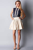 Мини-юбка молодежная в складку из тафты Ю89