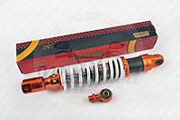 """Амортизатор универсальный (+ переходник) 350mm, тюнинговый """"NDT"""" (оранжево-белый) (код товара A-733)"""