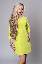 Молодёжное стильное короткое женское летнее платье оттенков желтого