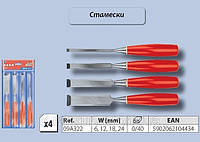 Набор стамесок 4шт/6-24мм., Top Tools 09A322