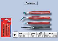 Пинцеты набор 4шт,  Top Tools  32D423