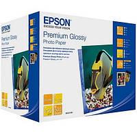 Фотобумага Epson Premium Glossy Photo Paper Глянцевый 250г/м кв, 13х18см, 500л (C13S042199)
