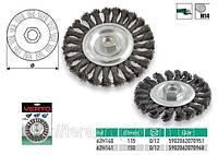 Щетка проволочная дисковая,  VERTO  62H140, 62H141