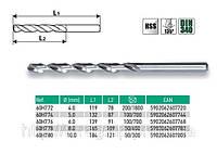 Сверло по металлу HSS-G,  VERTO  60H772, 60H774, 60H776, 60H778, 60H780