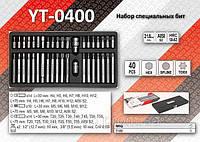 Набор специальных бит в металлическом боксе 40шт, YATO YT-0400