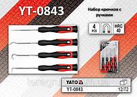 Набор крючков с рукоятками 4шт, YATO YT-0843