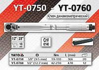 """Ключ динамометрический 3\8"""", F= 19-110Nm, L= 366мм, YATO YT-0750"""