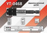 """Держатель магнитный для бит 1/4"""" - 60мм, YATO YT-0468"""