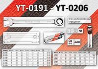 Ключ комбинированный с трещоткой 10мм, YATO YT-0191