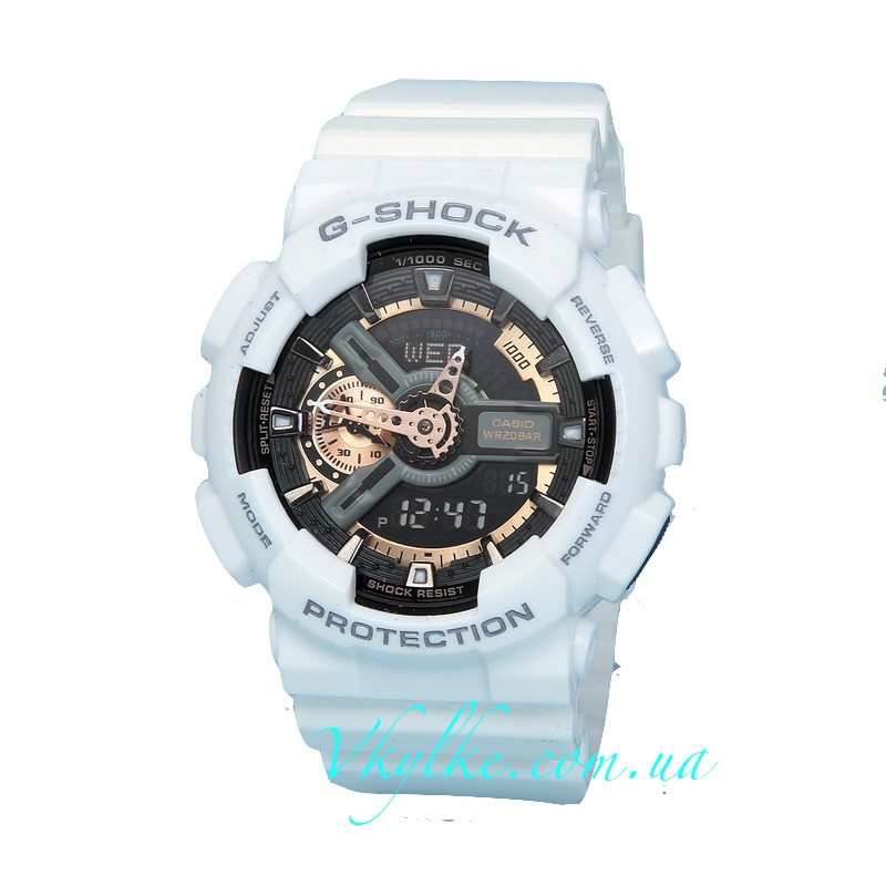 Часы Casio G-Shock GA-110 WHITE&GOLD AAA