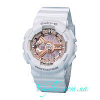 Часы Casio Baby-G BA-110 WHITE&PINK AAA