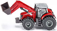 Трактор Massey Ferguson с фронтальным погрузчиком, 1:50, Siku