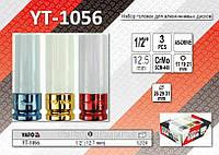 """Набор головок для алюминиевых дисков 1/2"""" - 3шт, YATO YT-1056"""