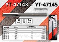 Пробойник слесарный 4мм., YATO YT-47143