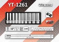 """Набор торцевых головок 1/2"""", 10-24мм, 10шт, упаковка - металл, YATO YT-1261"""