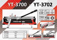 Плиткорез ручной c 2-я направляющими L= 400мм.,  YATO  YT-3700