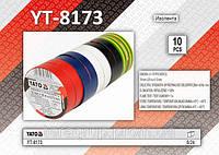 Набор разноцветной изоленты 10 шт,  YATO  YT-8173, фото 1
