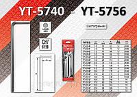 Шестигранные ключи 5,0мм CRV удлиненный 6шт, YATO  YT-5745.