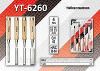 Набор стамесок 10-16-20-25 CrV,  YATO  YT-6260.