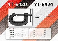 """Струбцина типа """"С"""" 2"""" x 46,5мм x 50мм, m= 0,6kg.,  YATO  YT-6420"""