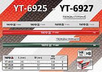 Карандаш столярный красный,  YATO  YT-6926.
