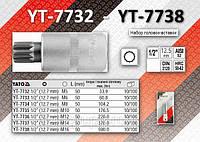 """Головка c вставкой SPLINE М5 1/2"""",  YATO YT-7732."""