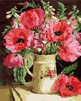 Раскраски для взрослых 40×50 см. Маковое настроение Художник Anne Cotterill