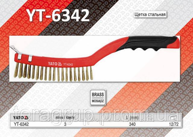 Щетка c пластиковой ручкой,  YATO  YT-6342.