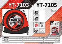 Рулетка L-3м., W-16мм., магнитный наконечник, нейлоновое покрытие, YATO  YT-7103, фото 1