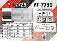 "Головка cо вставкой HEX 5мм 1/2"",  YATO YT-7724."