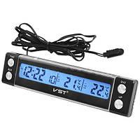 Авточасы с подсветкой 7036, жидкокристаллический дисплей, будильник, календарь, таймер, температура