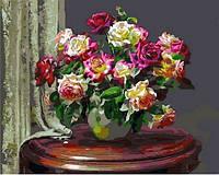 Картины по номерам 40×50 см. Чайные розы Художник Энн Мортон