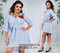 Платье турецкий плательный лён батал