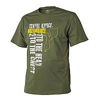 Футболка Helikon-Tex® T-Shirt (Travel Advice: Mozambique) - Cotton - US Green