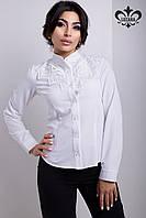 Классическая белая блуза Бель ТМ Luzana 42-48 размеры