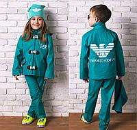 """Детский демисезонный стильный костюм с паркой 888 """"Аrmani"""" в расцветках"""